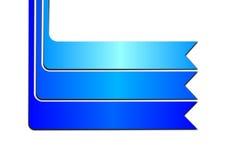 Cinta azul de la bandera en el fondo blanco stock de ilustración
