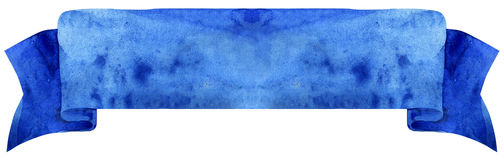 Cinta azul marino de la acuarela Imagen de archivo libre de regalías