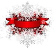 Cinta, cinta y copos de nieve ilustración del vector