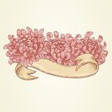 Cinta con las flores rosadas Imagen de archivo libre de regalías