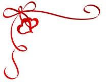 Cinta con los corazones stock de ilustración