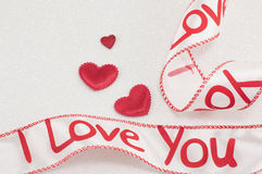 Cinta con te amo la muestra Fotos de archivo