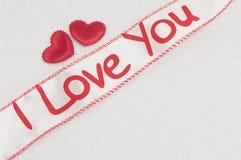 Cinta con te amo la muestra Imagenes de archivo