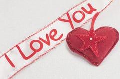Cinta con te amo la muestra Imagen de archivo