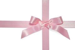Cinta cruzada rosada con el arqueamiento Foto de archivo libre de regalías