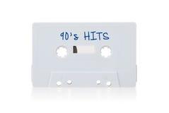 Cinta de casete audio del vintage, aislada en el fondo blanco Imagenes de archivo