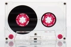 Cinta de casete audio, rosada. Fotos de archivo libres de regalías