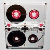 Cinta de casete audio, rosada Imagen de archivo libre de regalías
