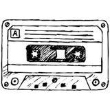 Cinta de cassette audio stock de ilustración