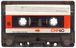 Cinta de cassette en blanco retra Fotos de archivo