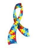 Cinta de la conciencia del autismo ilustración del vector