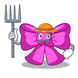 Cinta de la corbata de lazo del granjero aislada en mascota stock de ilustración