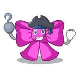 Cinta de la corbata de lazo del pirata aislada en mascota libre illustration