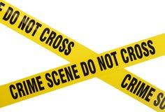 Cinta de la escena del crimen Fotografía de archivo libre de regalías