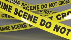 Cinta de la escena del crimen Foto de archivo libre de regalías