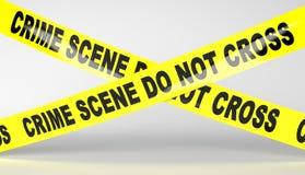 Cinta de la escena del crimen Imagenes de archivo
