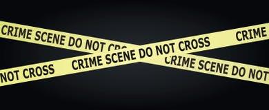 Cinta de la escena del crimen ilustración del vector