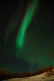 Cinta de la estrella polar de la aurora Imágenes de archivo libres de regalías