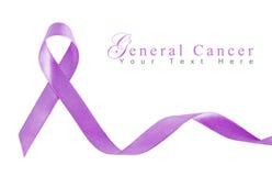 Cinta de la lavanda para el cáncer general Foto de archivo