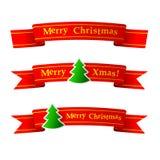 Cinta de la Navidad Foto de archivo
