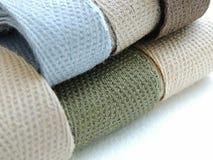 Cinta de la tela cruzada de algodón para coser Imágenes de archivo libres de regalías