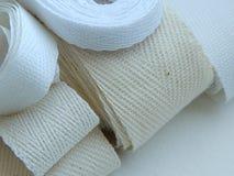 Cinta de la tela cruzada de algodón para coser Imagenes de archivo