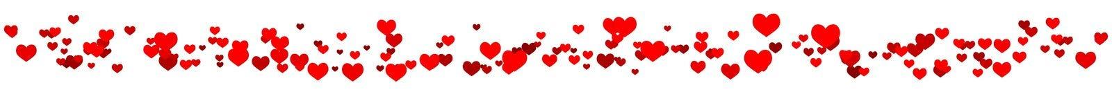 Cinta de los corazones aislados en blanco Foto de archivo