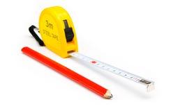 Cinta de medición Foto de archivo libre de regalías