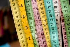 Cinta de medición Fotos de archivo libres de regalías