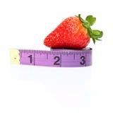 Cinta de medición de la pérdida de peso de la dieta Fotos de archivo