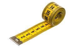 Cinta de medición de la personalización Foto de archivo