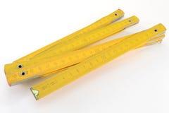 Cinta de medición de madera Foto de archivo libre de regalías