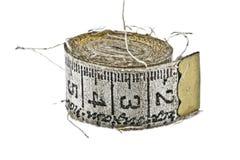 Cinta de medición vieja Imagenes de archivo