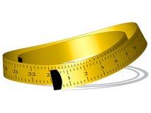 Cinta de medición amarilla Imagen de archivo libre de regalías