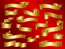 Cinta de oro Foto de archivo