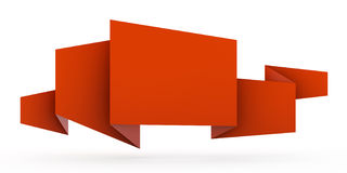 Cinta de papel del origami Fotografía de archivo