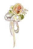 Cinta de Rose y del satén. Foto de archivo