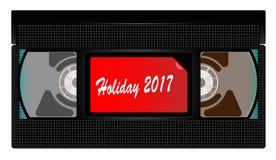 Cinta de video del día de fiesta 2017 Imagen de archivo libre de regalías