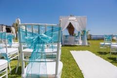 Cinta del arco de la decoración para una ceremonia de boda Imagen de archivo