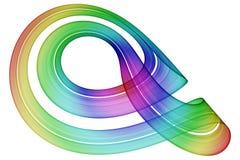 Cinta del arco iris que se encrespa Imagenes de archivo