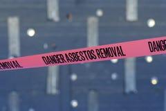 Cinta del asbesto Fotografía de archivo