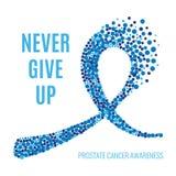 Cinta del cáncer de próstata de Movember Imagen de archivo libre de regalías