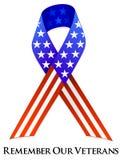 Cinta del día de veteranos foto de archivo libre de regalías