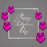 Cinta del marco de los corazones Fondo del día de la tarjeta del día de San Valentín s Imágenes de archivo libres de regalías