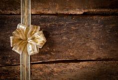 Cinta del oro y frontera del arco Imagenes de archivo