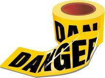 Cinta del peligro Fotos de archivo libres de regalías