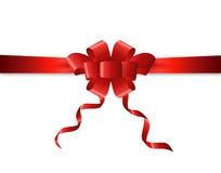 Cinta del presente y del regalo, arco o lazo Imágenes de archivo libres de regalías