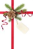 Cinta del regalo de la Navidad Foto de archivo libre de regalías