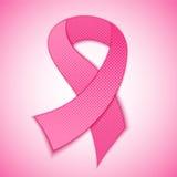 Cinta del rosa de la conciencia del cáncer de pecho en fondo colorido Imagenes de archivo