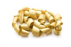 Cinta del satén del oro Foto de archivo